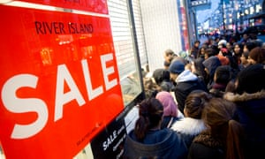 Boxing Day sales in Oxford Street, London, in 2014.
