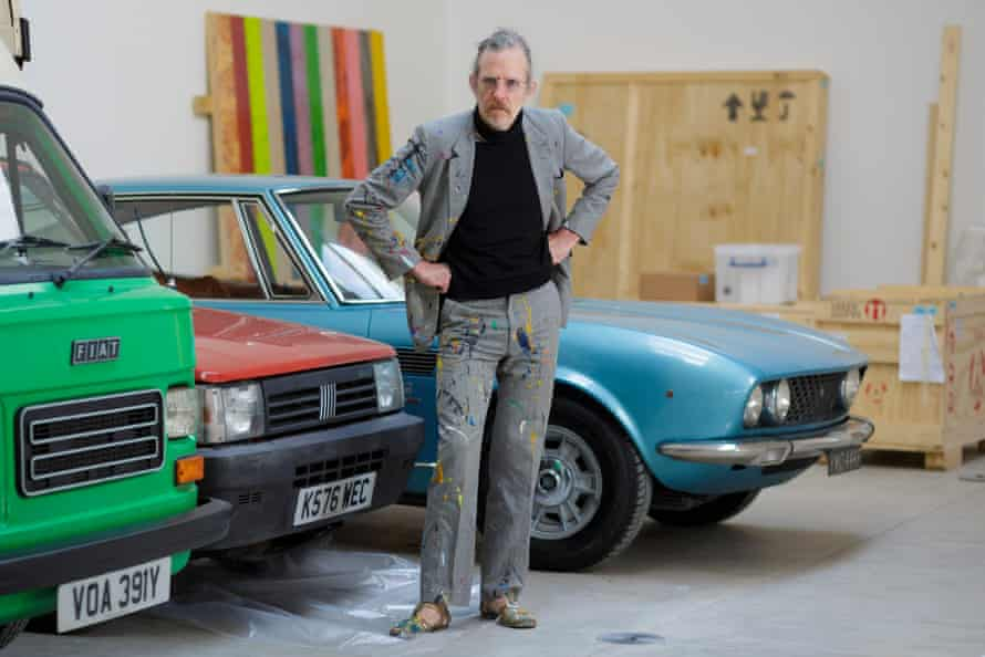 Martin Creed at the Hauser and Wirth gallery Somerset, where he is installing a new show.