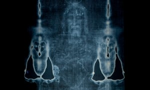 a photographic reproduction of the turin shroud