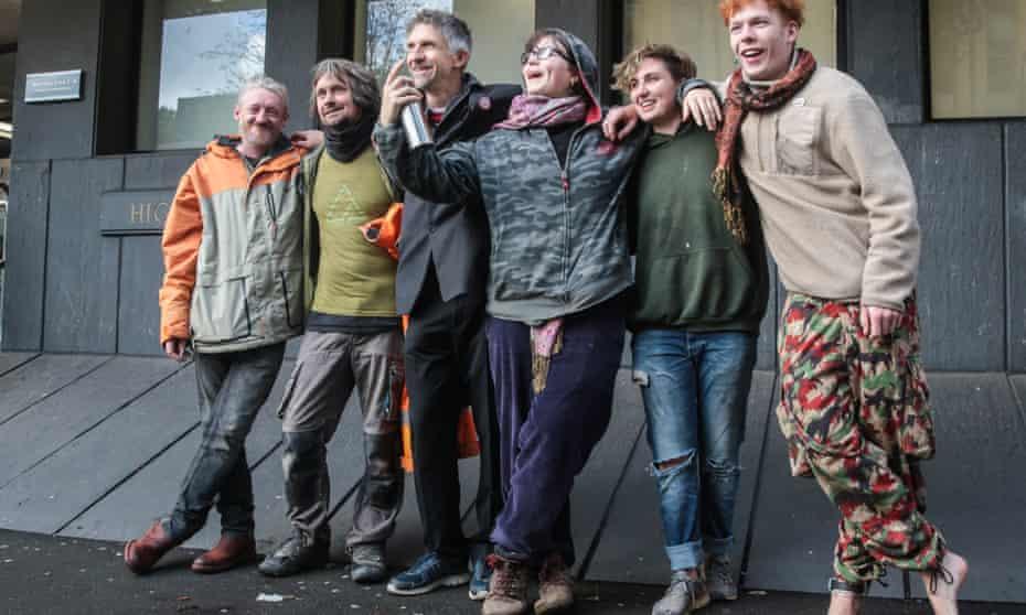 Six environmental activists, including  Daniel Hooper