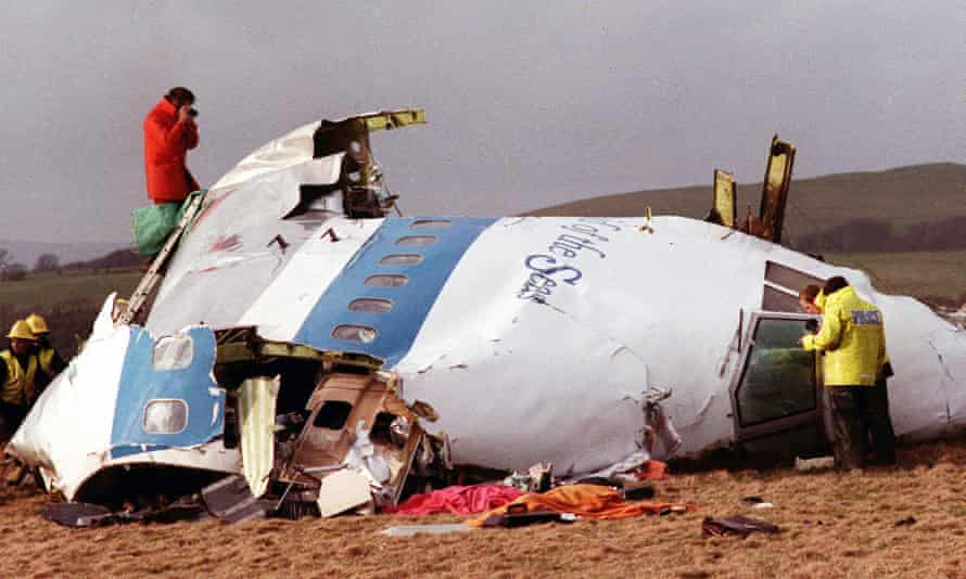 Wreckage of Pan Am 103