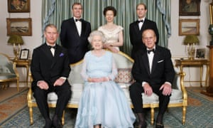 The Queen and Prince Philip with their children Charles, Andrew, Anne and Edward.