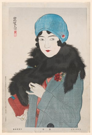 Early spring (1931), by Itō Shinsui, colour woodblock