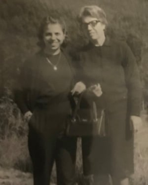 Antonella Lampone and her mother, Maria, in 1969