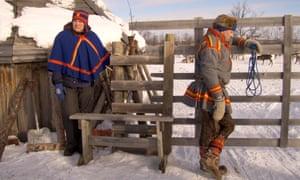 Sami reindeer herders in northern Sweden.