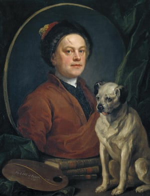 The Painter and his Pug 1745 by William Hogarth 1697-1764 Self-Portrait The Painter and his Pug 1745 William Hogarth 1697-1764 Purchased 1824 http://www.tate.org.uk/art/work/N00112