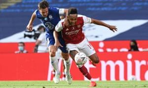 Aubameyang drew Cesar Azpilicueta into conceding a penalty for Arsenal's equaliser.