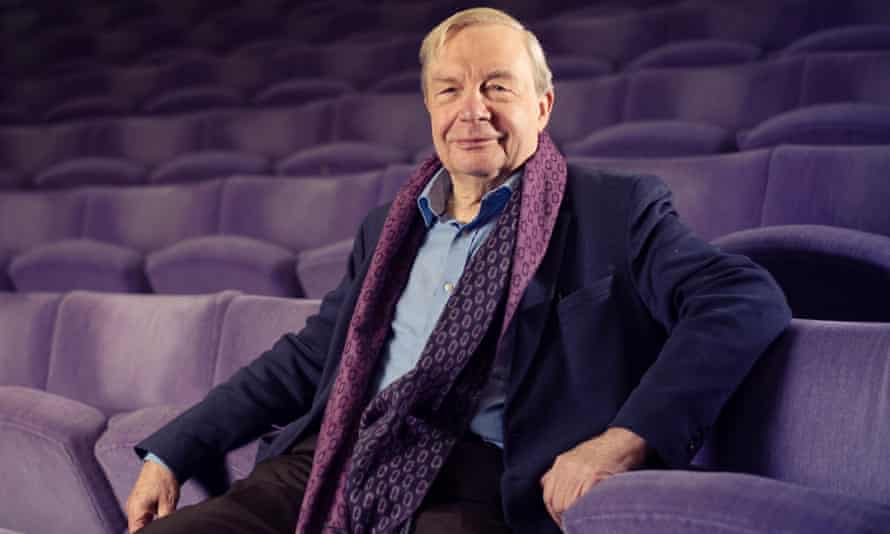 Michael Billington in the Olivier auditorium at the National Theatre in London.