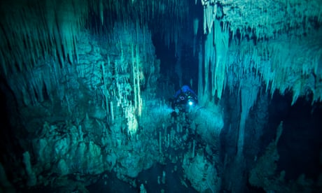 'Swimming into the unknown:' Mexico's unmapped underwater caves - in pictures