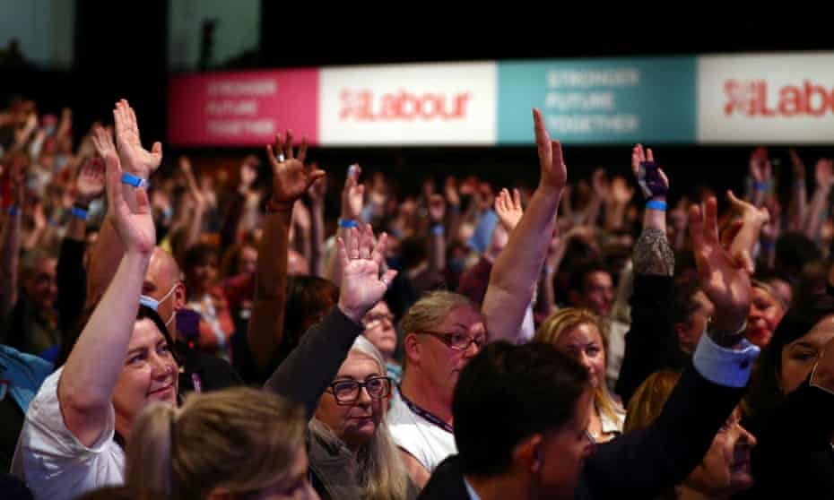 A show of hands during the Labour party conference in Brighton