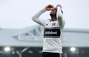 Sessegnon reacts after scoring the off-side goal.