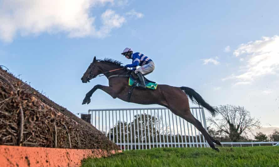 Cyrname and Harry Cobden are clear jumping the last on the way to winning the Charlie Hall Chase at Wetherby