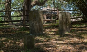 A cemetery designated for slaves in the Middleton Place plantation, South Carolina.
