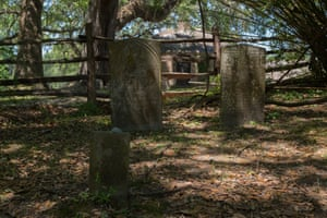 A graveyard at Middleton Place in South Carolina marks the graves of African American slaves.