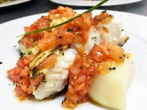 Fish dish at O Grelo.