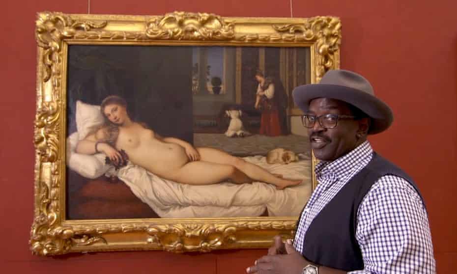 Eroticism controversy … Braithwaite and Titian's Venus of Urbino.