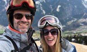 Marcus Brigstocke and fiancee, Rachel Parris, in Austria