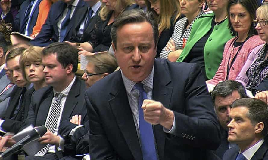 David Cameron makes his case for bombing Syria yesterday.