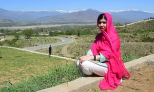 Malala Yousafzai on her return to her home town in Pakistan's Swat valley, 31 March 2018.
