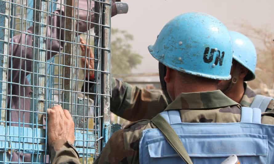 UN peacekeepers in South Sudan.