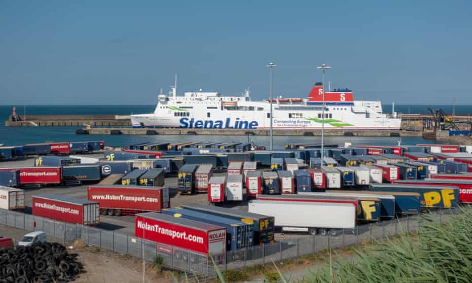 The busy Rosslare Europort, Co Wexford, Eire.