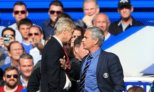 Fans watch Arsène Wenger and José Mourinho argue when Arsenal visited Chelsea in 2014