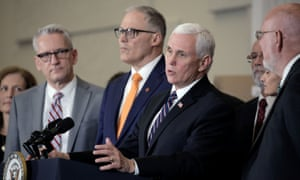 U.S. Vice President Mike Pence, who heads the government's coronavirus task force, speaks during a press conference in Washington.
