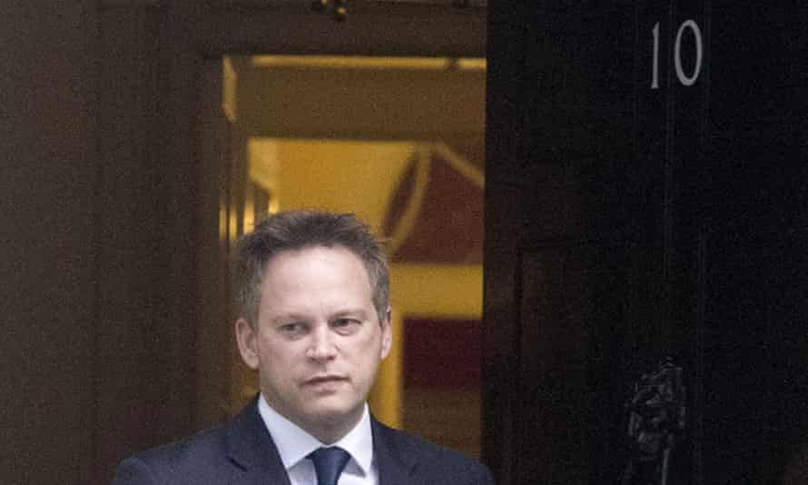 Grant Shapps leaves 10 Downing Street.
