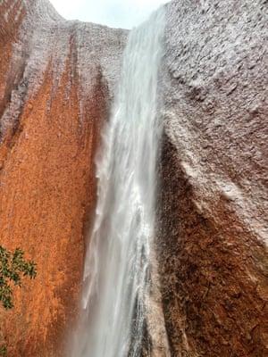 An Uluru waterfall