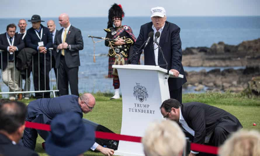 Donald Trump visits Trump Turnberry in 2016