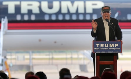 Republican US presidential candidate Donald Trump speaks at a rally in Pittsburg before the Orlando attacks. He attacked both Barack Obama and Hillary Clinton in tweets.