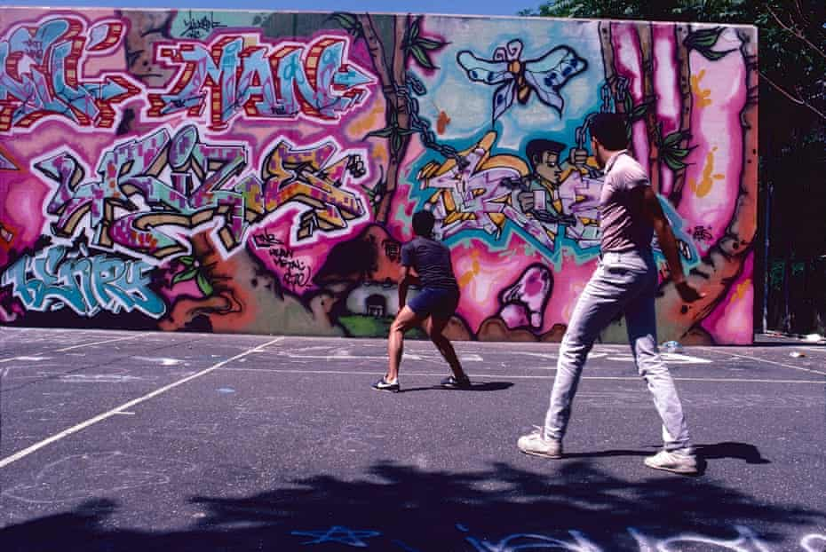 Wall by Rize and Lil Man, Ven - Washington Heights, Manhattan, NYC. 1986