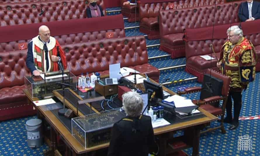 A near-empty House of Lords on 2 February.