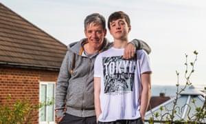 Gareth Johnson and his son Leon