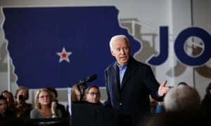 Joe Biden holds a community event in Des Moines, Iowa, last week.