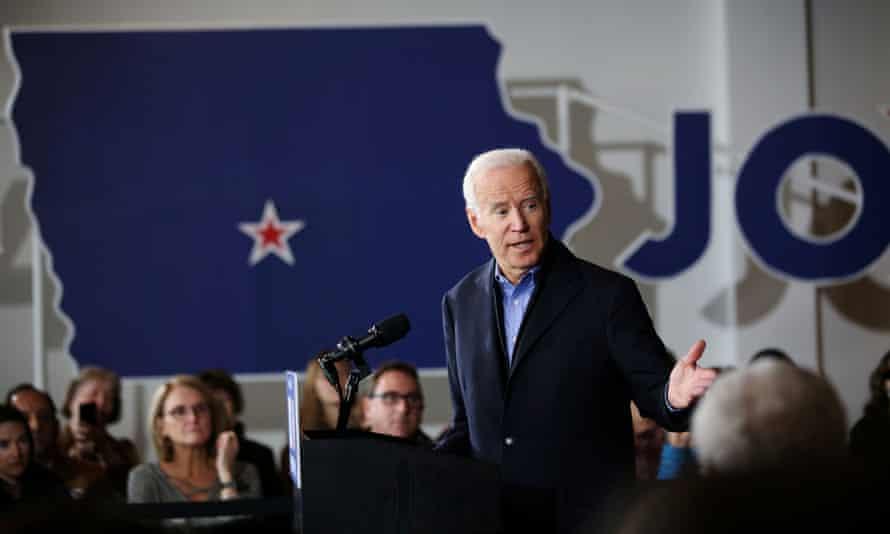Joe Biden holds a community event in Des Moines, Iowa, last week.