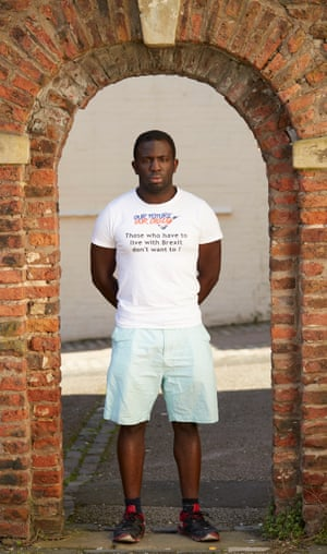 Campaign group Our Future, Our Choice's Femi Oluwole, photographed in Darlington, 19 April, 2018