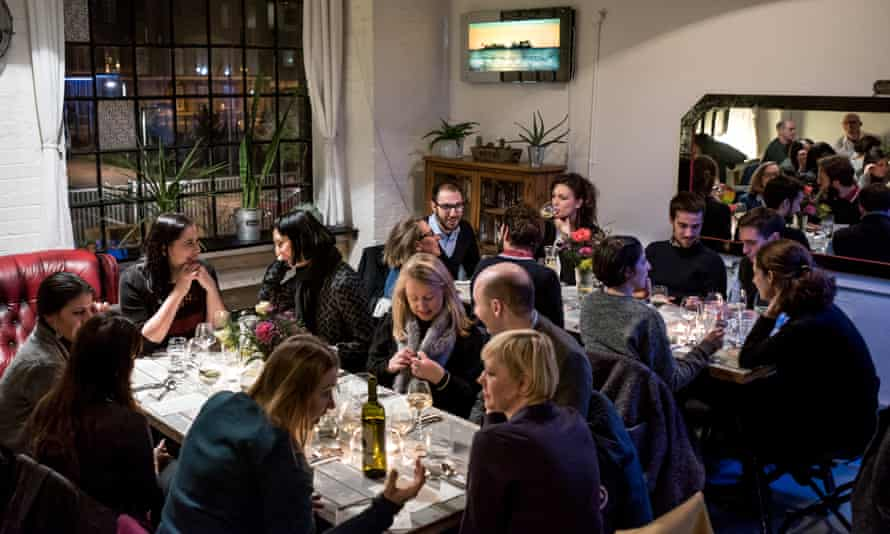"""An Italian Supper Club at Hotel Adriatico, January 2015""""Food provides a common ground to which everybody can relate."""""""