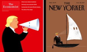 The latest editions of The Economist and The New Yorker magazines.