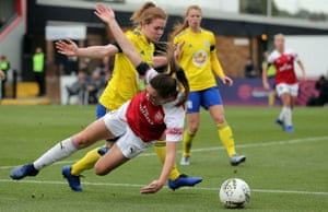 Arsenal and Birmingham, here in WSL action in November, have been drawn to face one another in the Continental League Cup.