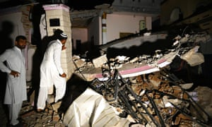 At least 19 people have been killed and 300 wounded after a shallow earthquake rattled north-eastern Pakistan, a senior police officer said.