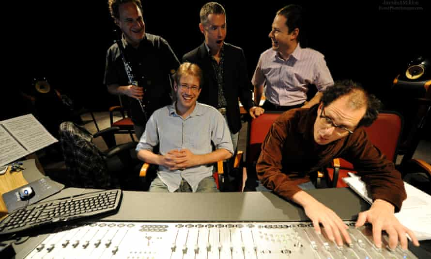 The Akoka collective including clarinettist David Krakauer (left) and beat-maker Socalled (right)