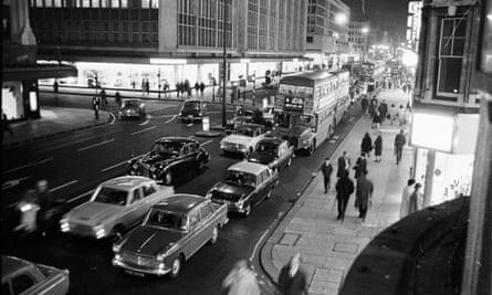 Traffic in Oxford Street, central London, in 1965