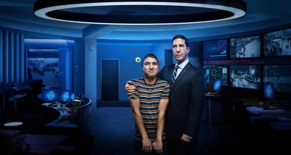 Schwimmer with Nick Mohammed in Intelligence.