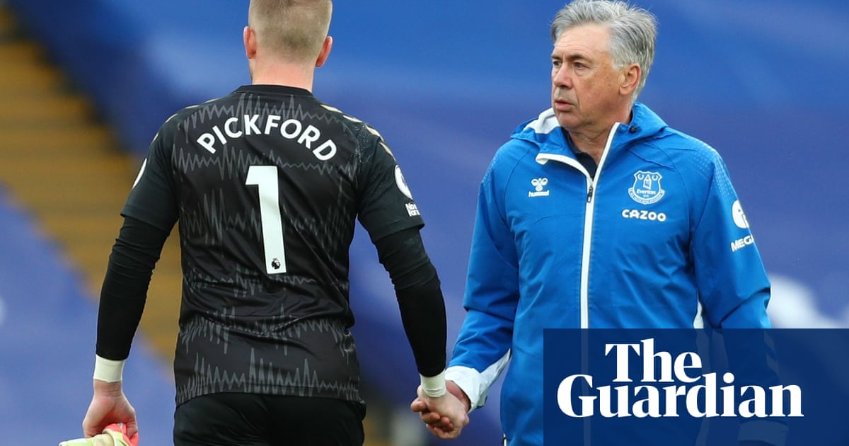 Ancelotti urges Jordan Pickford to rely on instincts and cut out mistakes