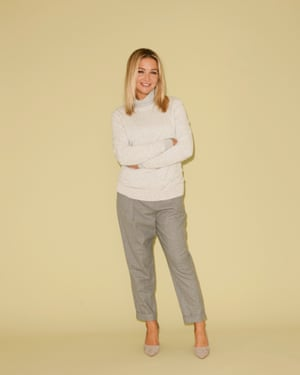 Jess Cartner-Morley wears jumper, £69, poloneck, £45, and trousers, £69, all cosstores.com. Courts, £49.99, hm.com.
