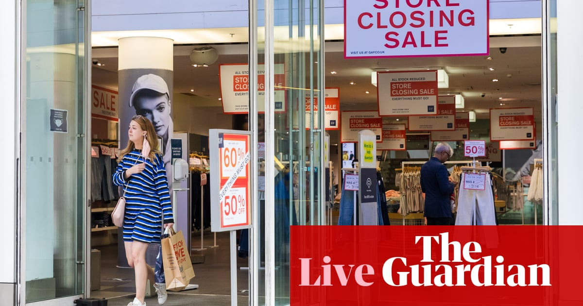 Retail sales in Great Britain fall sharply as Euro boost fades, people eat out more – live