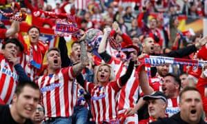 Atletico Madrid fans.