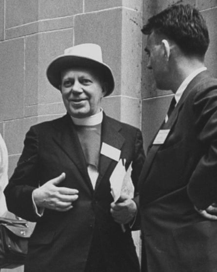 George Bell, left, at the World Council of Churches in 1954.