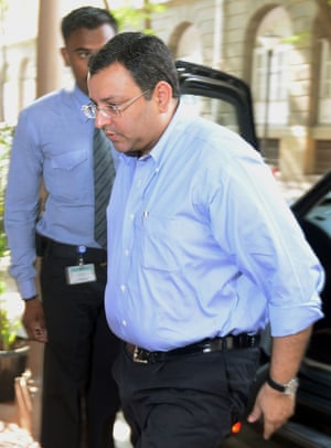 Cyrus Mistry, arriving at the Tata group's Bombay House headquarters in the Indian city of Mumbai on April 6, 2016.
